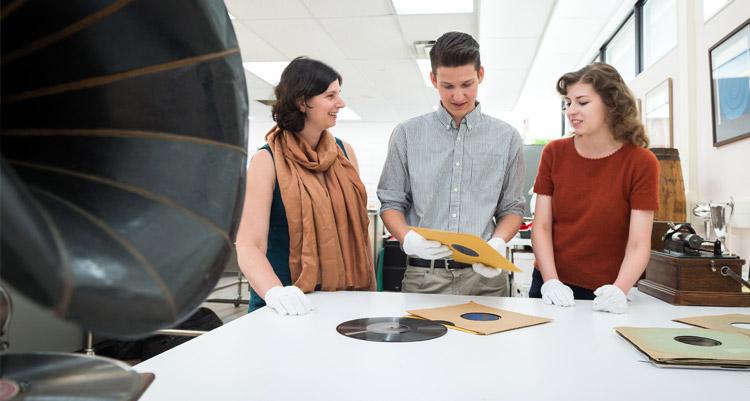 UBC Okanagan History students in museum
